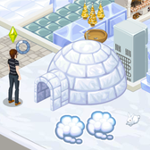 The Sims Social Cheats and Tips: Keep on dreamin' in Bella's igloo