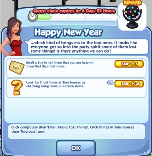 The Sims Social Happy New Year 1