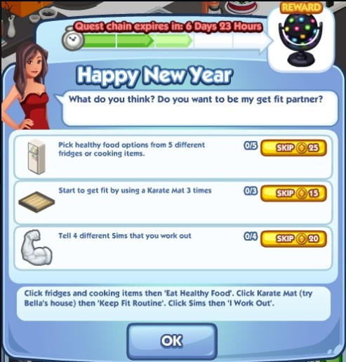 The Sims Social Happy New Year 3