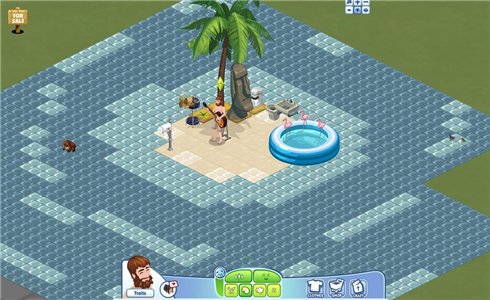 Sims Social Castaway
