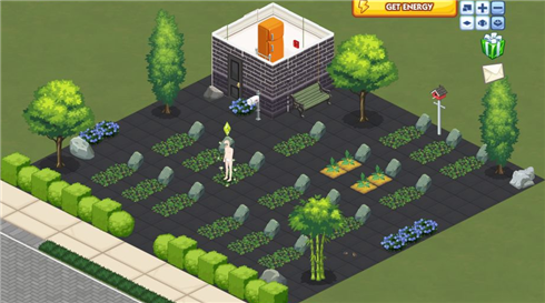 Sims Social graveyard