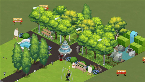 Sims Social park