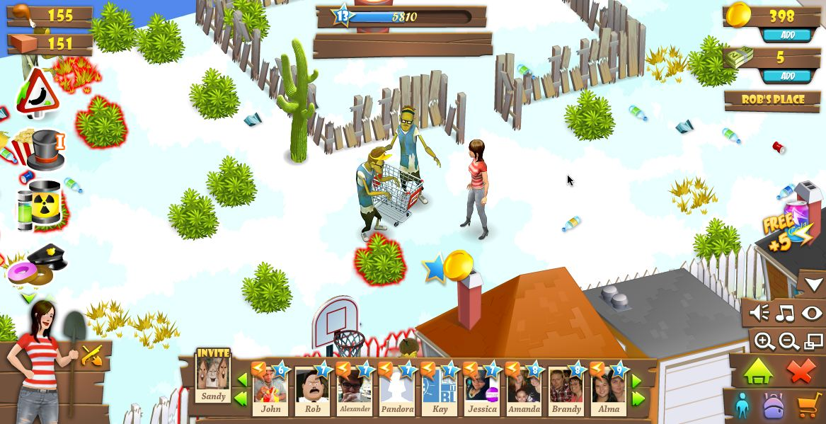 zombie land best facebook games 2011