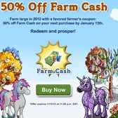FarmVille: 50% off Farm Cash offers going out through email
