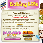ZipZapPlay's Baking Life burns out, PopCap to close up shop Jan. 31