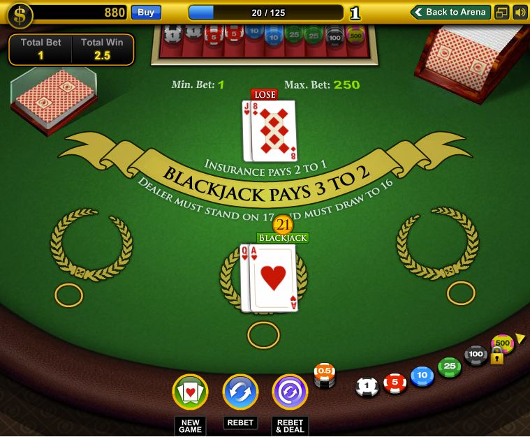 blackjack games on facebook