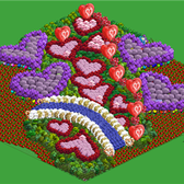 FarmVille Pic of the Day: Shouting love from the trees at irocutopia's farm
