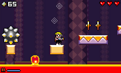 Mutant Mudds lava stage