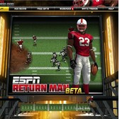 ESPN Return Man goes for a touchdown in Facebook football games