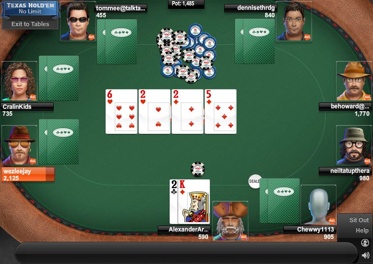 texas holdem poker online free game