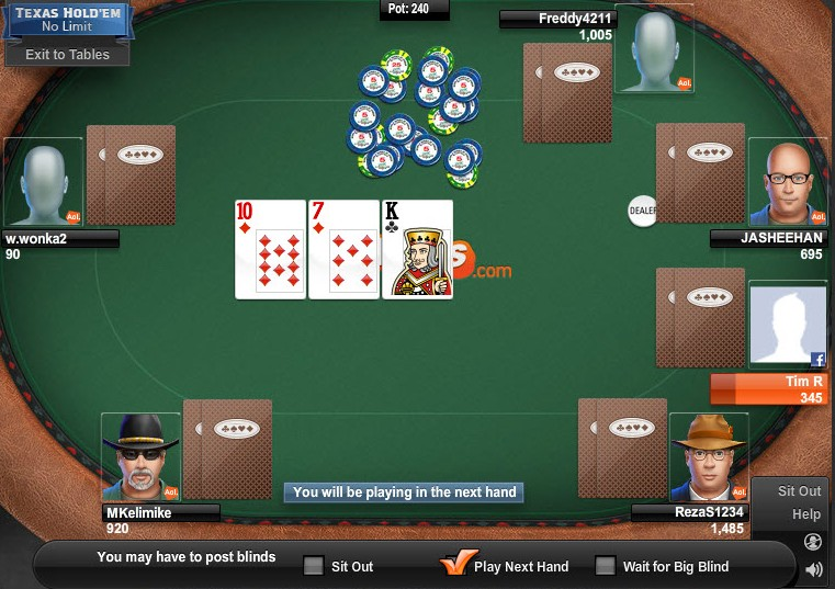 free poker aol online chat