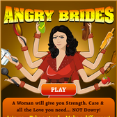 Not Angry Birds, <em>Angry Brides</em>, and this game is anything but a parody