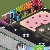 The Sims Social Pic of the Day: Nyan Cat House by PeachesLatrell
