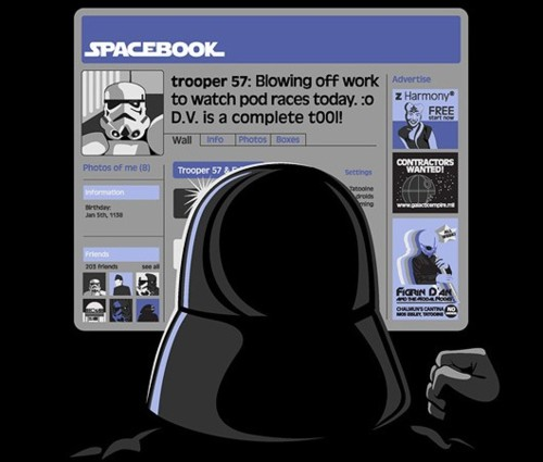 Star Wars Facebook Spacebook