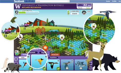 UWB Wetlands Restoration Facebook game