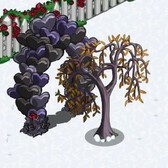 FarmVille Anti Valentine's Day Items: Dark Balloon Arch, Wilted Tree and more