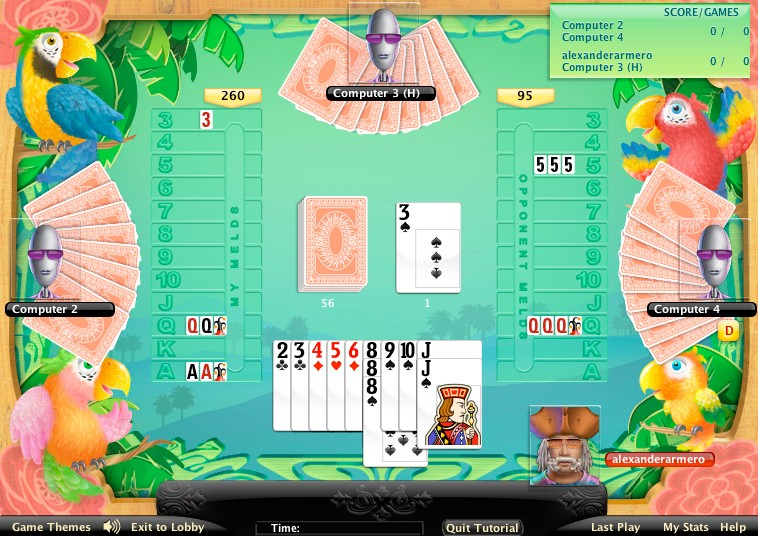 play for free online canasta with people