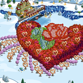 FarmVille Pic of the Day: A heart blooms in winter at Anammm's farm