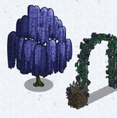 FarmVille Anti-Valentine's Day Items: Dark Willow Tree, Black Rose Arch and more