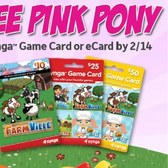 FarmVille: Redeem Zynga Game Card for free Pink Pony