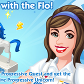 Flo from Progressive tours The Sims Social in 'Go With The Flo' quest