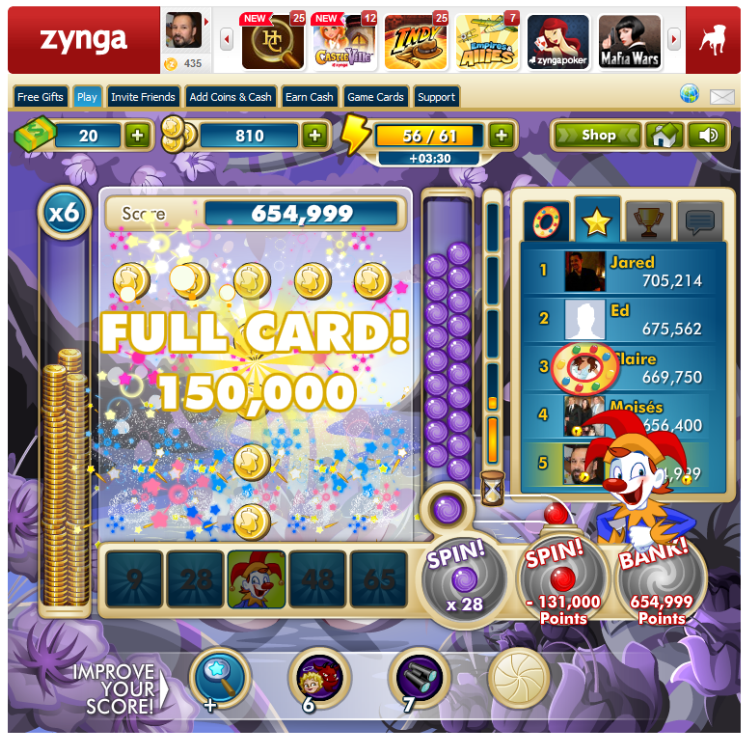 Zynga Slingo in action