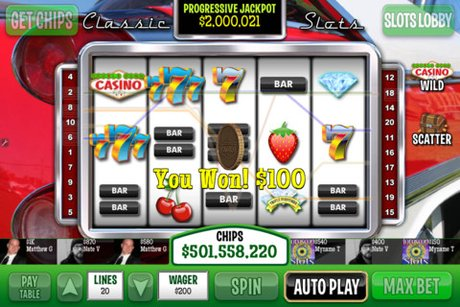 Play the slots for free with DoubleDown Casino on iOS