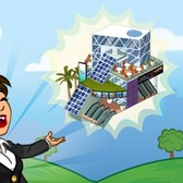CityVille Solar Mall: Save energy and space for your businesses