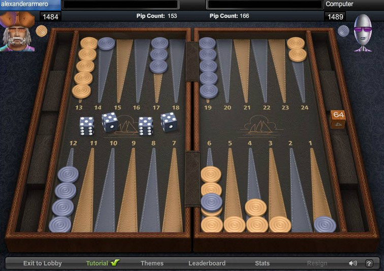 backgammon game of the day