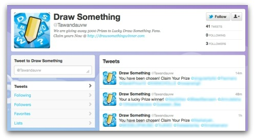 Draw Something scam