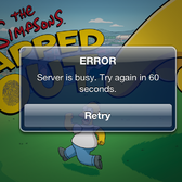 D'oh! The Simpsons: Tapped Out suffers outage (and removal) from overwhelming demand [UPDATE]