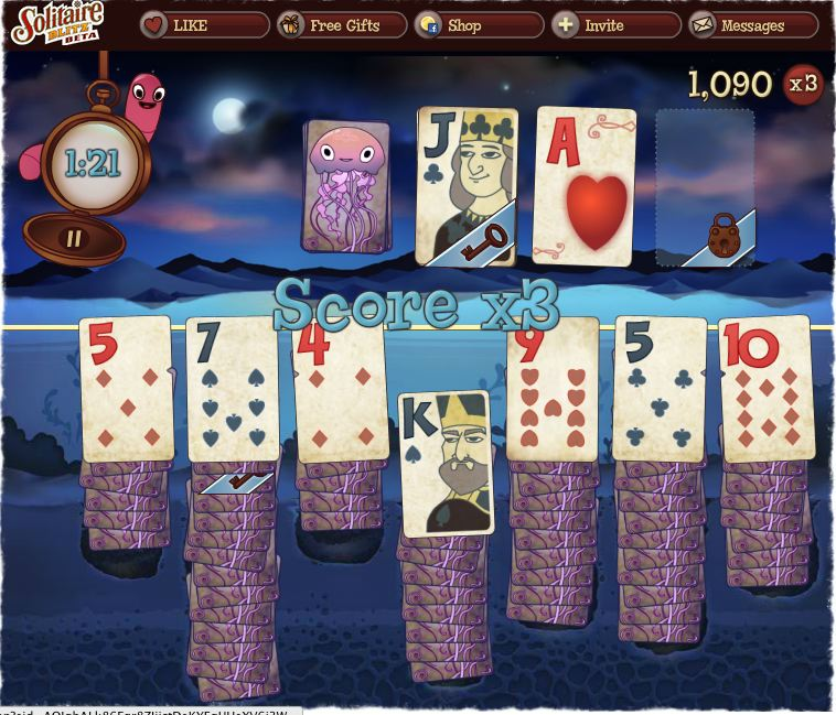 solitaire blitz game