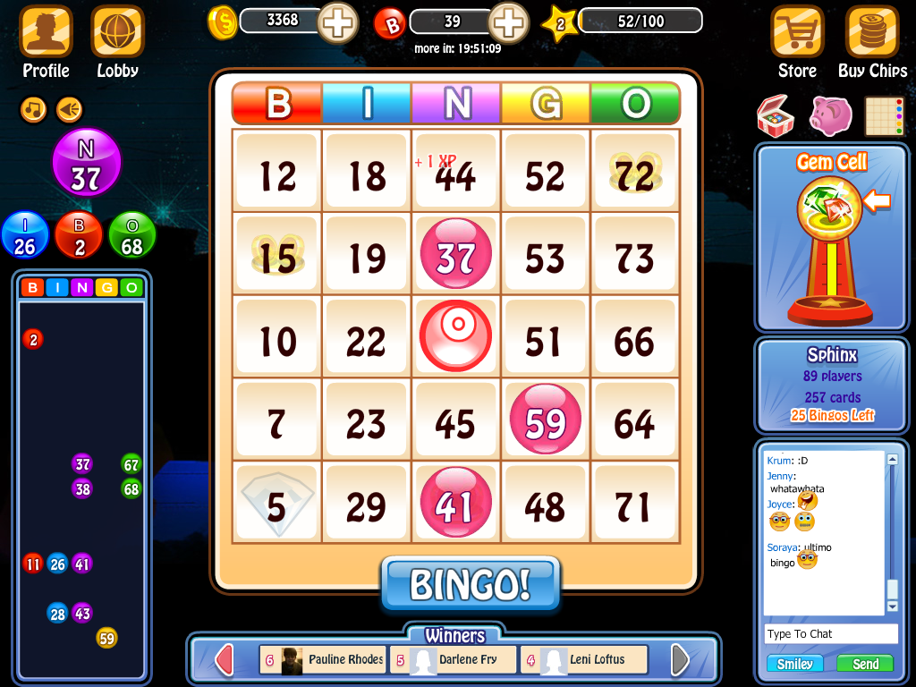 free fun bingo games