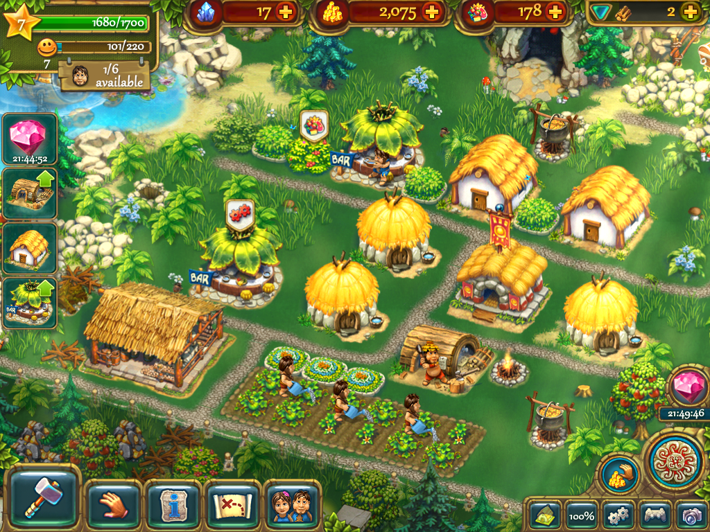Command your village of followers in the tribez on ipad House remodeling games online