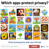 How do your favorite social games do on privacy? Privacyscore knows