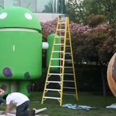 Watch Zynga vandalize this giant Android Robot statue
