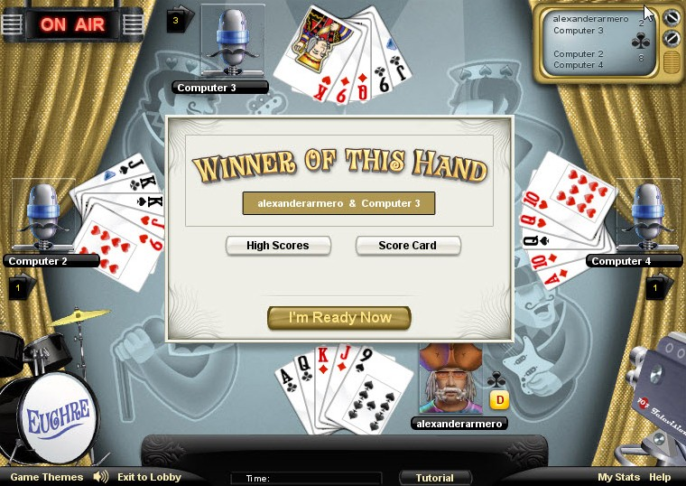 euchre game of the day