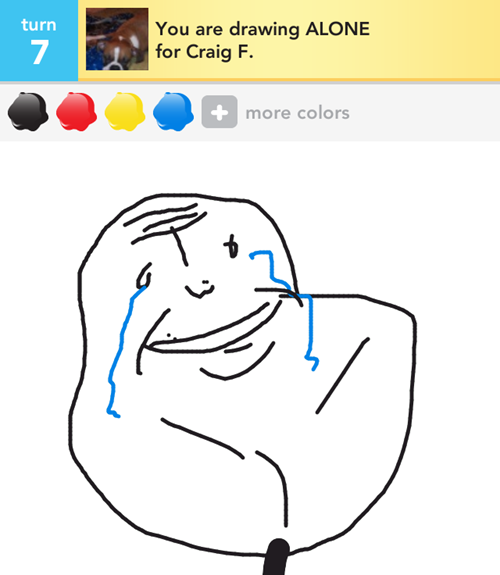 Draw Something Alone