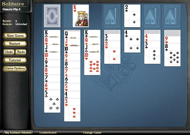 solitaire flip 3 card game