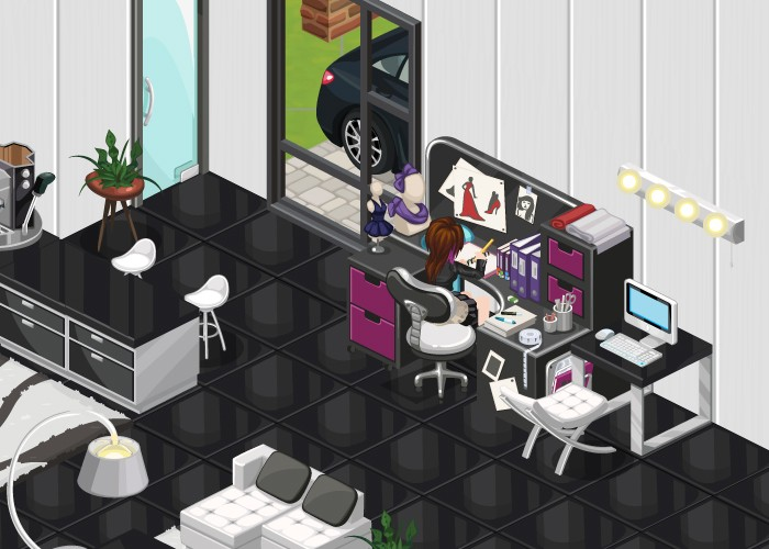 The Sims Social Venus to Fashion Desk