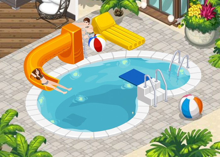 The Sims Social Pool Part Splashdown
