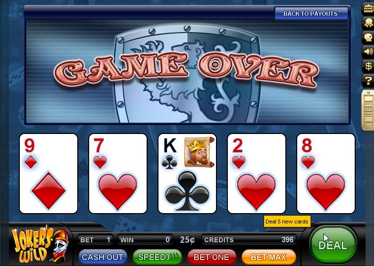 video poker game of the day