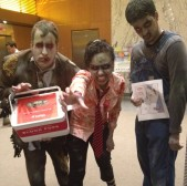 Zynga sends the undead to our office to promote Zombie Swipeout