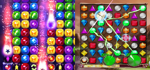 Bejeweled Blitz vs Ruby Blast