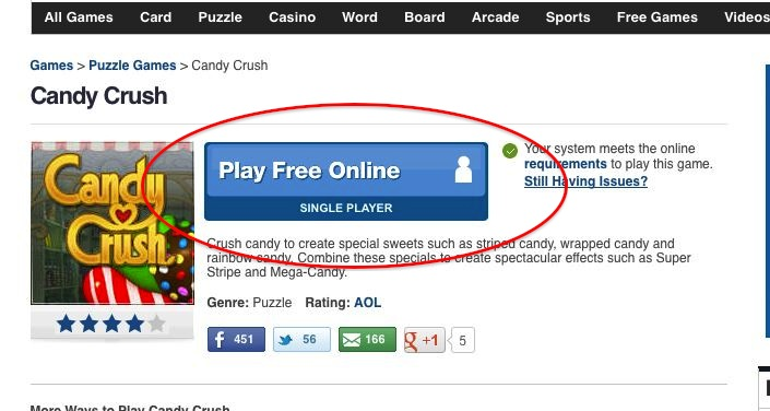 candy crush play free online