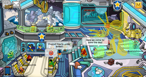 Club Penguin Marvel Super Hero Takeover screens