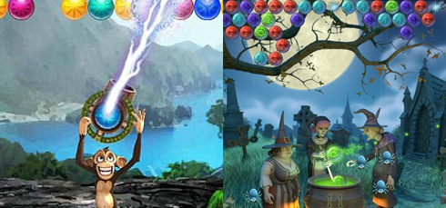 Bubble Safari vs Bubble Witch Saga