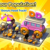 SimCity Social 'runs on Dunkin' with branded food truck