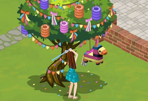 The Sims Social birthday screens