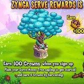 CastleVille Serve Tree: Earn free Crowns in Zyn